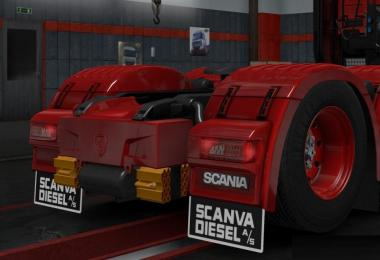 Scania Diesel mudflaps for Scania S & R v1.0