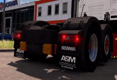 A&M Mudflaps for Scania S 1.30+