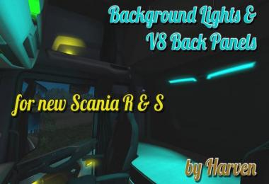 Background Lights & V8 Back Panels for new Scania R & S 1.30