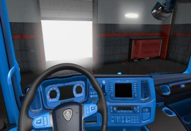 Blue interior for Scania 2016 1.30