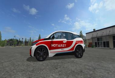 BMW I3 ambulance AT skin v1.0