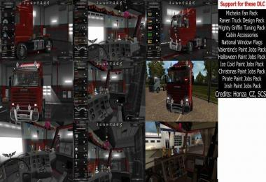DLC cabin pack for Scania 143m v1.0