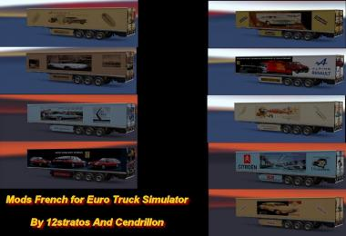 Ets2 Trailer Skin Pack old cars v1.0