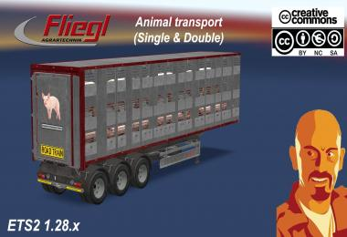 FLIEGL ANIMAL TRANSPORT (SINGLE & DOUBLE) ETS2 1.28.x