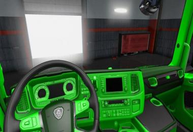 Green interior for Scania 2016 1.30