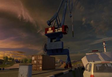 Harbor crane with spline v1.0