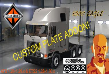 INTERNATIONAL 9800 CUSTOM PLATE 1.28 - 1.29 - 1.30.x