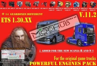 Pack Powerful engines + gearboxes v11.2 for 1.30.x