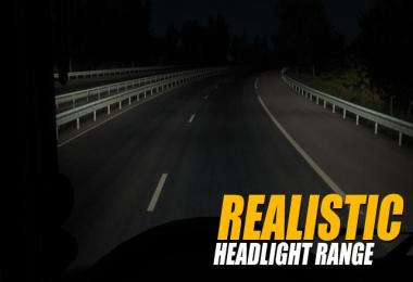 Realistic Headlight Range v1.1 1.28-1.30