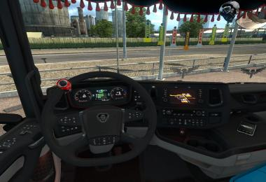 Scania Next Gen Red Dashboard 1.30
