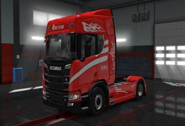 Scania R2016 ASN Logistic skin 1.30