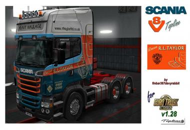 Scania R730 V8 Topline – R L Taylor Texture (RJL) v1.0