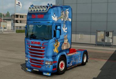 Scania RJL Tom and Jerry Skin 1.28.x