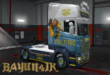 Scania R&S Topline Vault-tec skin 1.28.x