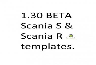 Templates for Scania S & Scania R series 1.30