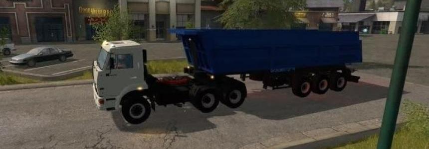 Kamaz 65116 with trailer Schmitz v1.1