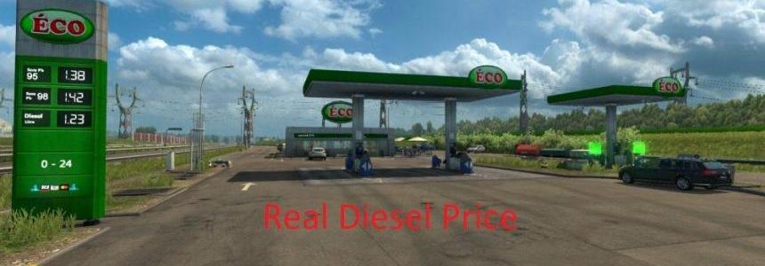 Real Diesel Prices ProMods v2.25 & RusMap v1.7.5