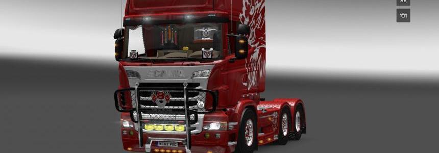V8K Blaine Bullbar v2 Paintable for Scania 2016 S & R