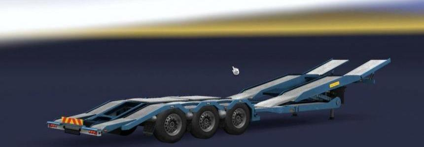 Empty Truck Transporter Trailer Support 1.30.x