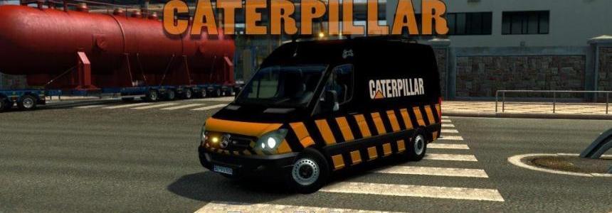 Escort Mercedes Benz Sprinter CAT – DLC Special Transport v1.0