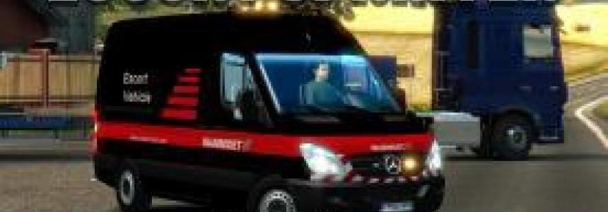 Escort Mercedes-Benz Sprinter DLC Special Transport v1.0