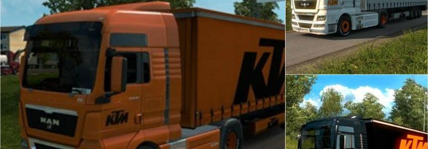 KTM Skins 3 MAN Truck Skins and 4 Trailer Skins
