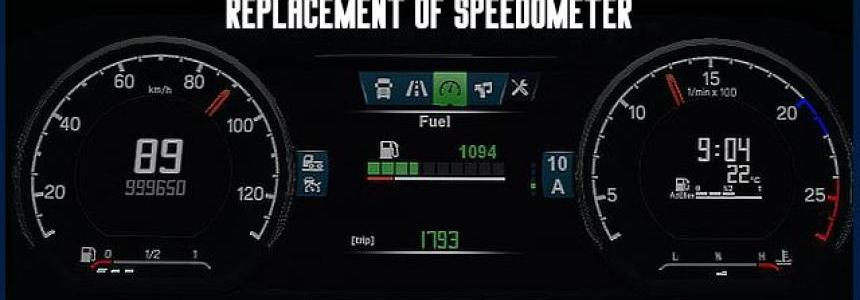 NEW Dashboard Scania S (replacement of speedometer) v1.0