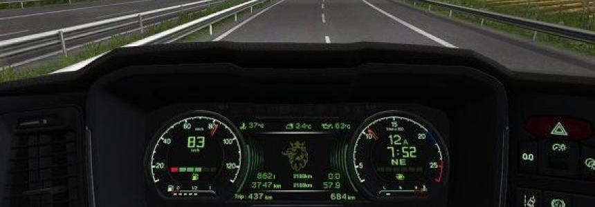 New Scania Custom Dashboard Addon v1.0