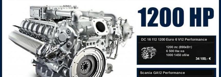 New Scania S V8 Engine 1200 HP 1.30