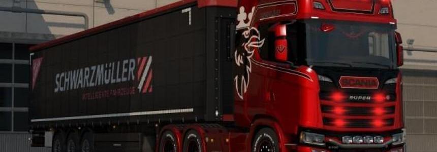 NexGen White Griffin Scania S Highline Metalic Skin