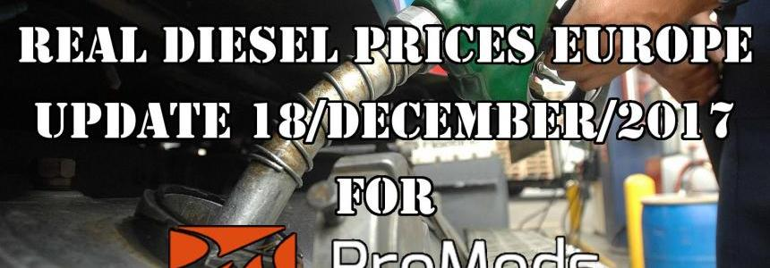Real Diesel Prices for Europe for Promods v2.25 (Date: 18/12/2017)