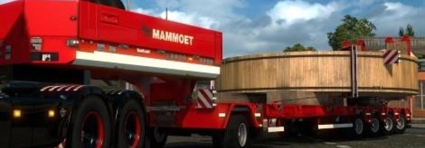 Red Mammoet heavy/special transport trailer skin
