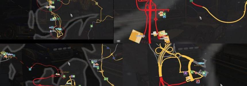 ScandinaviaMod ProMods map add-on v0.3 for 1.30.x