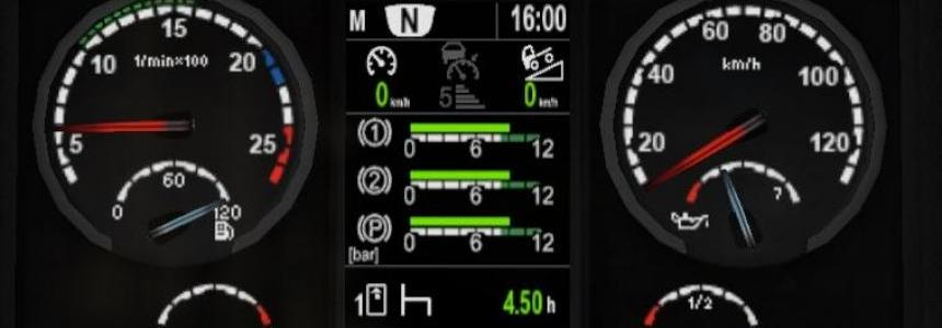 Scania dashboard computer v3.9.7 for 1.30