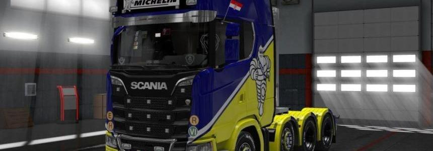 Scania NextGen AddOns SMG (Reedited Light Box Michelin) v1.0