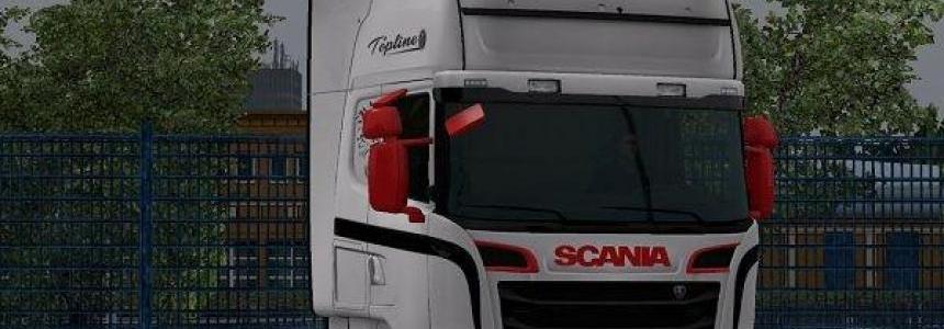 Scania RJL Red Black White Skin