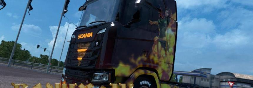 Scania R&S 2016 SCS Dark Phoenix skin 1.30