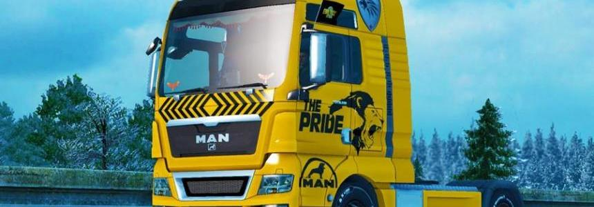 Skin Lion for MAN TGX v1.0