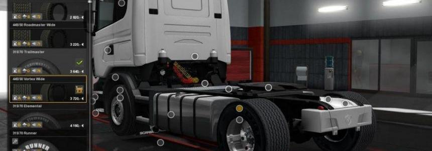 Super Single Tires and Wide Wheels 1.28-1.30x