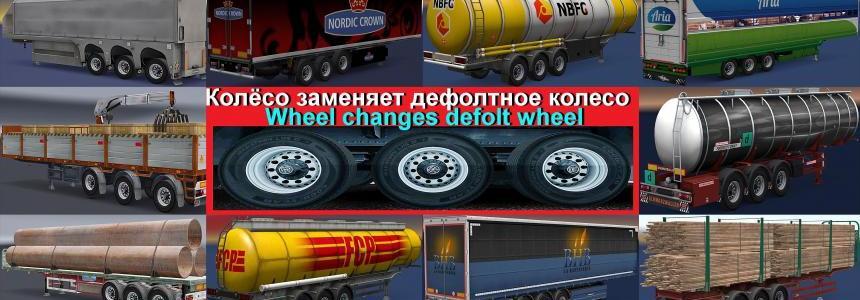 Wheel Сhanges default wheel on trailer v1.0