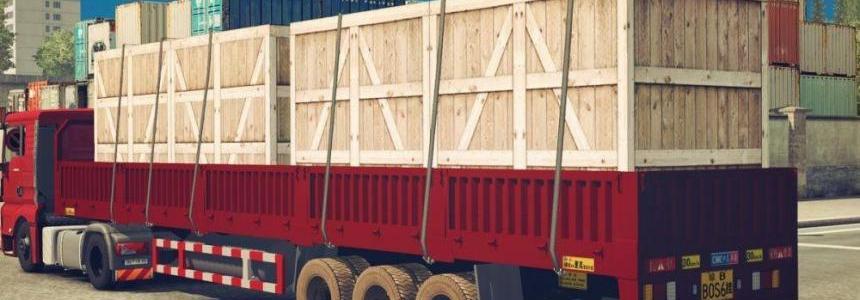 Wooden Box for Low Column Flatbed Trailer v1.0