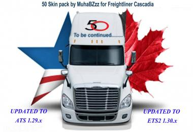 50 SKINS PACK FOR FREIGHTLINER CASCADIA v1.0