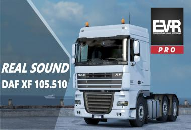 Authentic sound DAF XF 105.510 Engine Voice Records v1.0