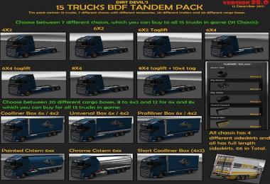BDF Tandem Truck Pack v88.0