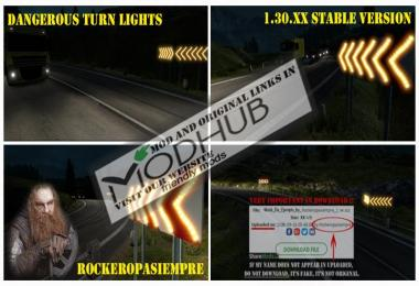 Dangerous turn lights For Stable Version 1.30.x