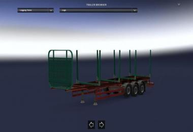 Empty Logging(Wood) Trailer Support 1.30.x