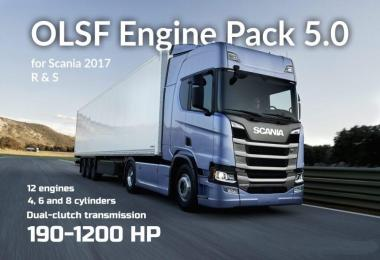 Engine Pack for Scania R & S 2017 v5.0 [1.30.x]