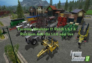 FS17 Patch v1.5.3 & Platinum Add-On v1.1.0