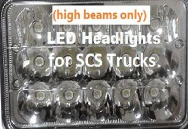 Game Friendly High Beams for Stock ETS2 Trucks 1.30