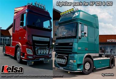 Kelsa Lightbars pack for DAF XF 105 & 106 v1.3 1.28-1.30